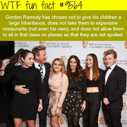Gordon Ramsay won't give his children a large inheritance - WTF fun fact
