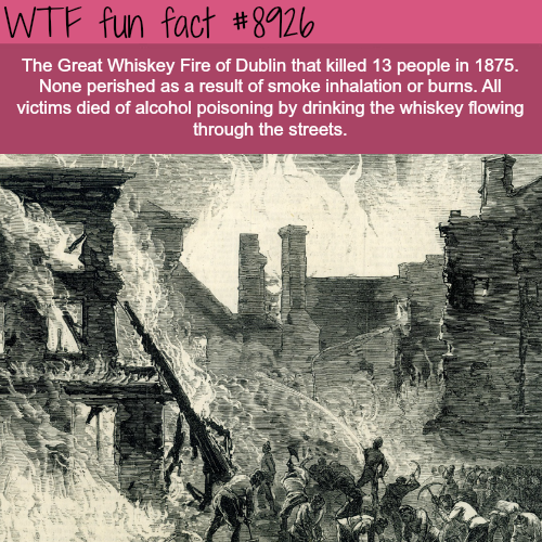 Great Whiskey Fire - WTF fun facts
