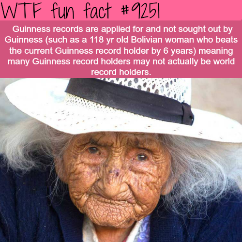 Guinness Records - WTF fun facts