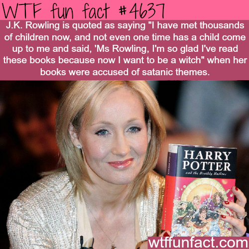 Harry Potter books have satanic themes - WTF fun facts