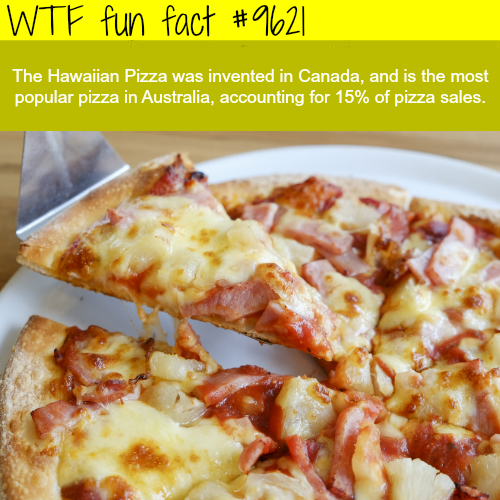 Hawaiian Pizza - WTF fun fact