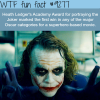 heath ledger as the joker wtf fun fact