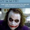 heath ledger wtf fun facts