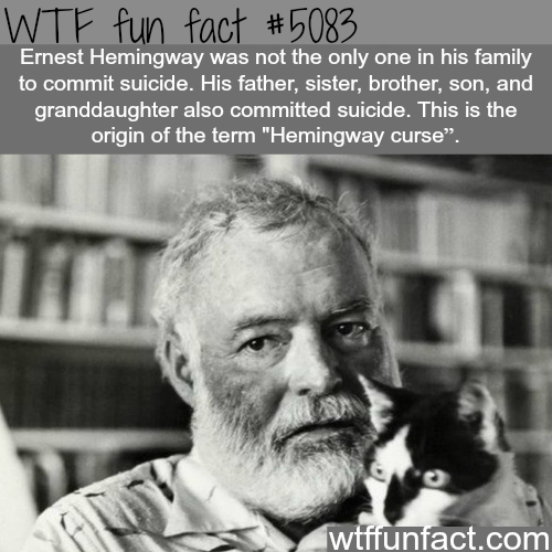 Hemingway curse - WTF fun facts