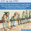 henry viii built his servants a 14 seat toilet by