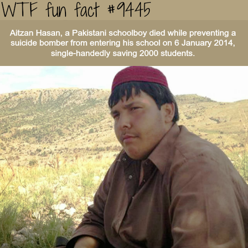 Hero saved 2000 students from terrorist - WTF fun fact