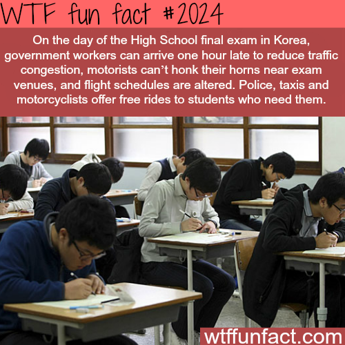 High School final exam in Korea - WTF fun facts