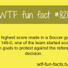 highest soccer scores