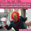hire and evil clown for birthday