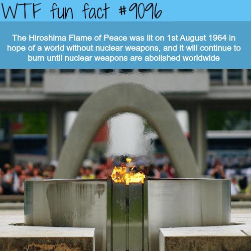 Hiroshima Flame of Peace - WTF fun fact