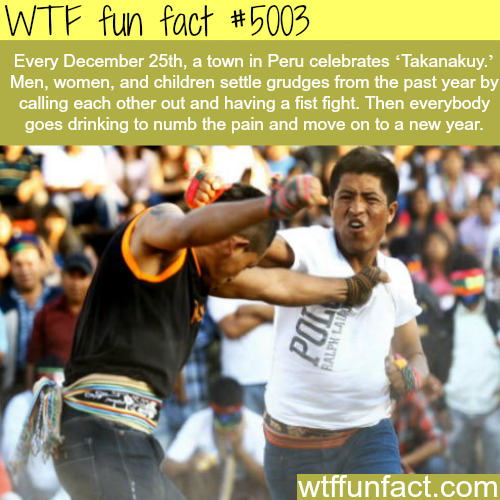 How a town in Peru celebrates the ending of the year - WTF fun facts