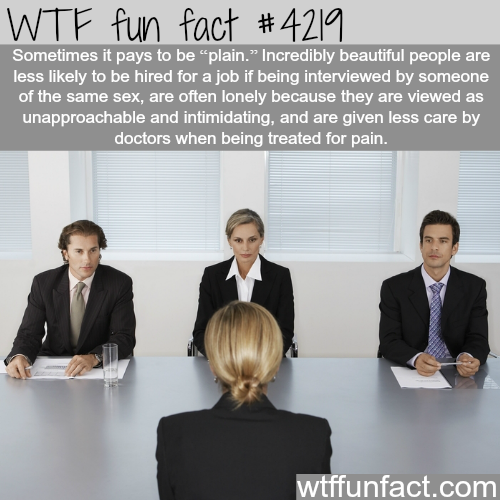 How being ugly can pay -  WTF fun facts