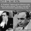 how did al capone get his scars