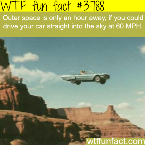 How far is outer space? - WTF fun facts