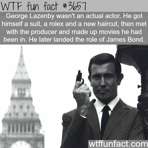 How George Lazenby became a James Bond actor -  WTF fun facts