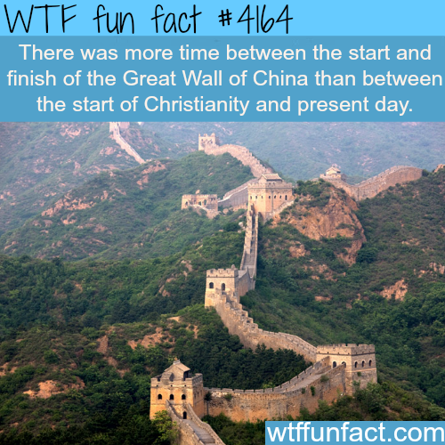 How long did it take to build the Great Wall of China -  WTF fun facts