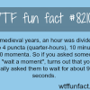 how long is a moment wtf fun fact