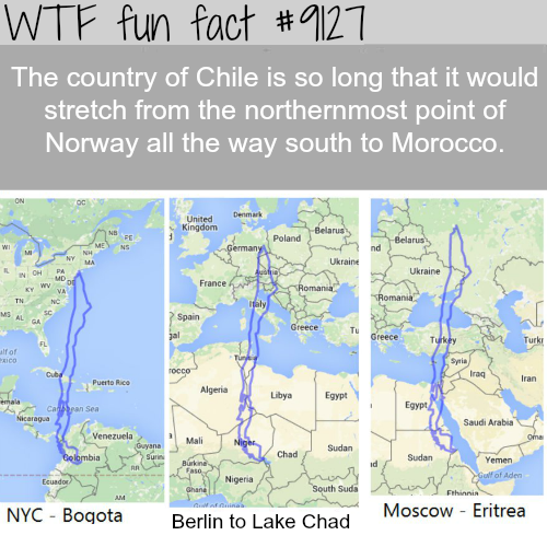How Long is Chile - WTF fun fact