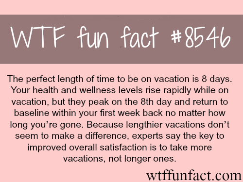 How long your vacation last - WTF fun facts