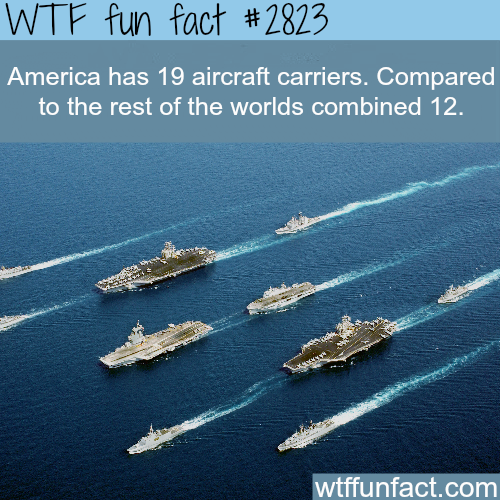 How many aircraft carriers does the USA have - WTF fun facts