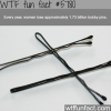 how many bobby pins are lost each year wtf fun