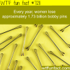 how many bobby pins women lose wtf fun fact