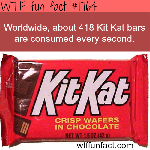 How many Kit Kat bar are being consumed every second? -WTF fun facts