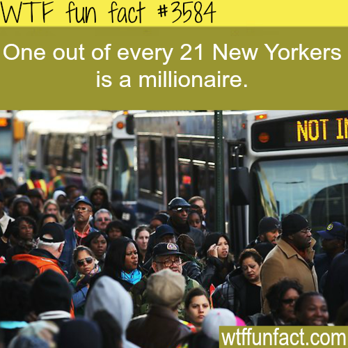 How many millionaires in New York City - WTF fun facts