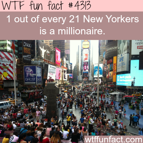 How many millionaires in New York -  WTF fun facts