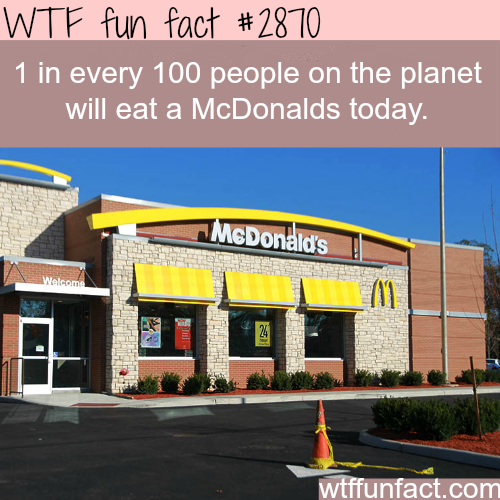 How many people eat at McDonalds each day?  -  WTF fun facts