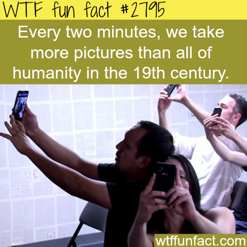 How many pictures do we take each minute? -WTF fun facts