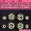 how many tires does lego produce