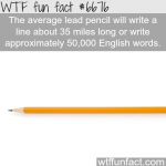 how many words can a lead pencil write wtf fun