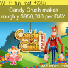 how much candy crush make every day