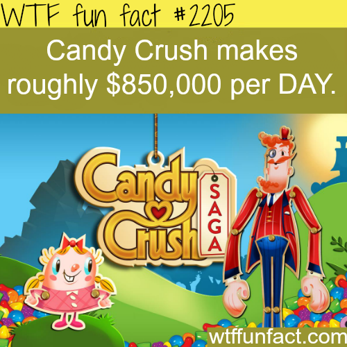 How much candy crush make every day - WTF fun facts