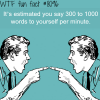 how much do you talk to yourself wtf fun facts