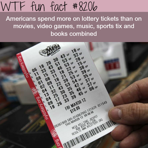 How much money Americans are spending on Lottery - WTF fun fact