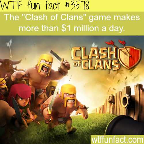 How much money does the app Clash of Clans make-  WTF fun facts