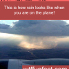how rain looks like when you are in a plane