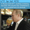 how russia classified alcoholic beverages wtf