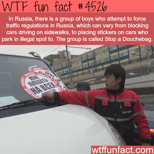 How Russia deals with Douchebag drivers -   WTF fun facts