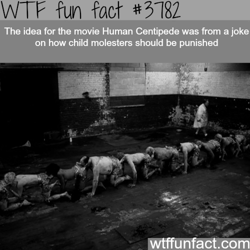 How the idea for the Human centipede came up - WTF fun facts