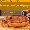 how to find the volume of pizza