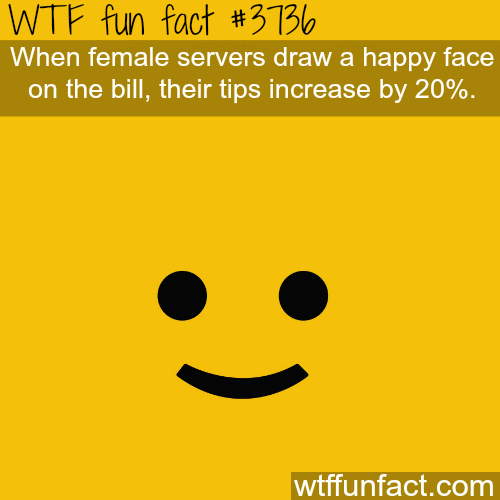 how to get higher tips - WTF fun facts