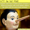 how to tell liars and honest people wtf fun fact
