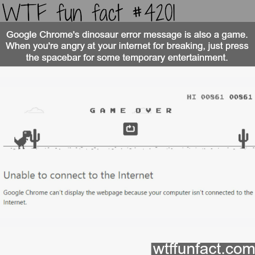 How to waste time when your internet breaks -  WTF fun facts