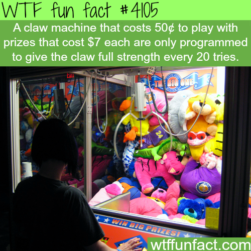 How to win in a claw machine - WTF fun facts