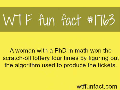 How to win the lottery…-WTF fun facts