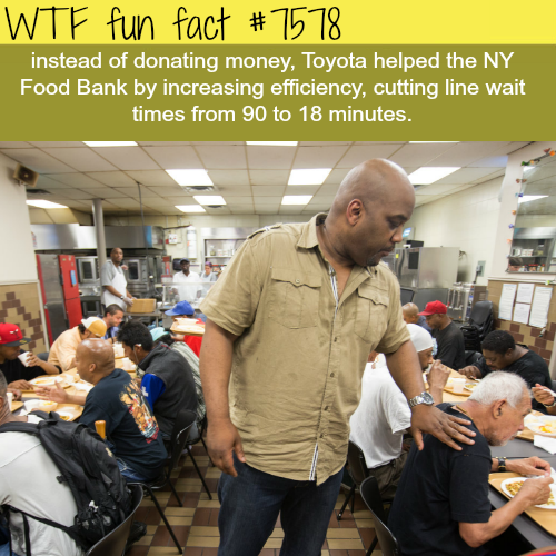 How Toyota helped a New York food bank without donating money - WTF fun facts
