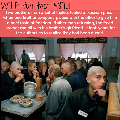 How two brothers of a set of triplets fooled a Russian prison - WTF fun facts